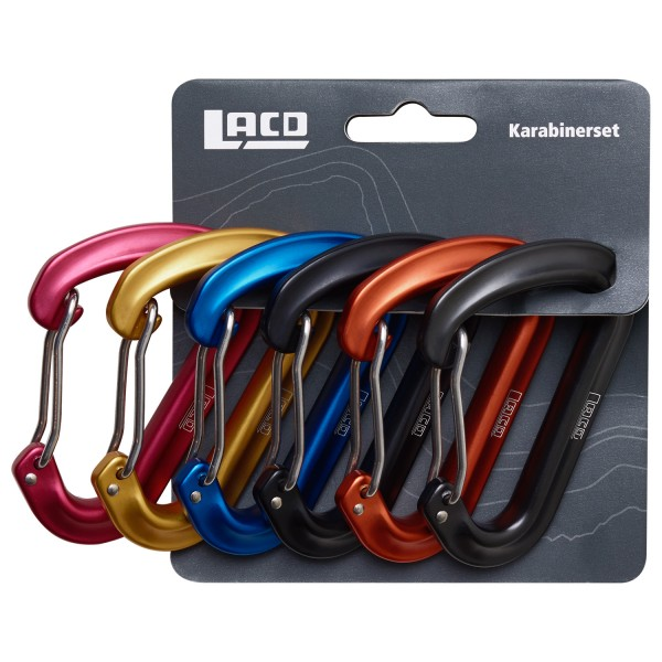 LACD 6er Set Alpine Light Biner - Karabiner