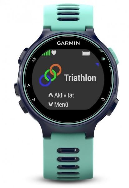 Garmin Forerunner 735XT Europe, Midnight Blue/Frost Blue Triathlon GPS