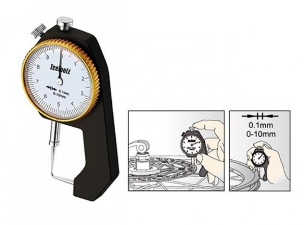 ICETOOLZ Messuhr für Materialstärke- LF-55C1 - Fahrradwerkzeug