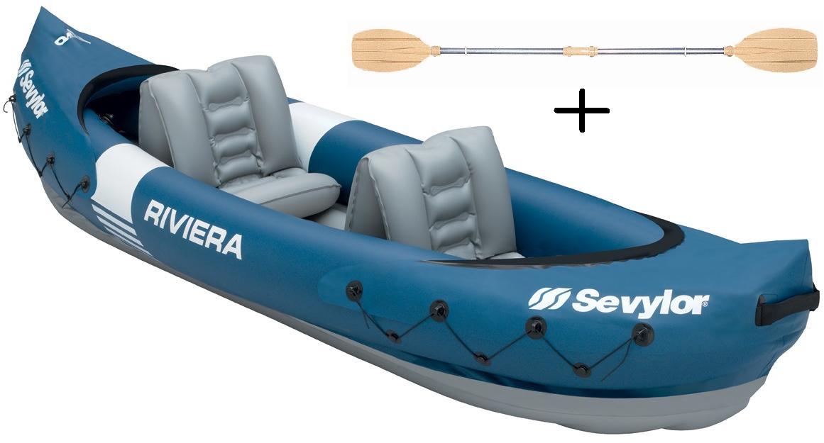 2 Doppelpaddel Alu K-Perf 230 Pumpe Sevylor Ottawa Kajak Kanu Schlauchboot
