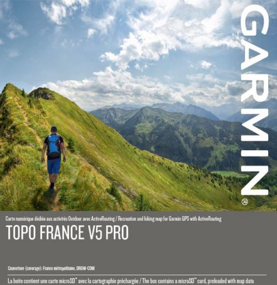 GARMIN Topo France v5 PRO - gesamtes Land - microSD/SD - Karte