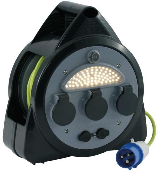 OUTWELL CEE-Stecker- Kabeltrommel mit USB und 3 Steckdosen 15 m- LED