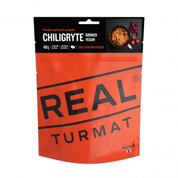 REAL TURMAT Chili Eintopf vegan - Expeditionsnahrung - 10 Pack