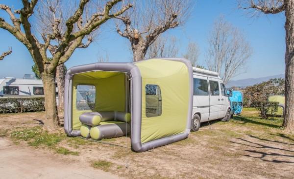 GENTLETENT Box Camping Teilzelt - grün - Breite 240