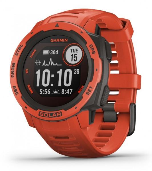 GARMIN Instinct Solar - Rot - Outdoor - Smartwatch