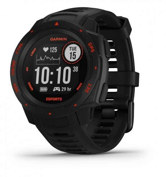 GARMIN Instinct Esports - Schwarz-Rot - E-Sport - GPS-Smartwatch