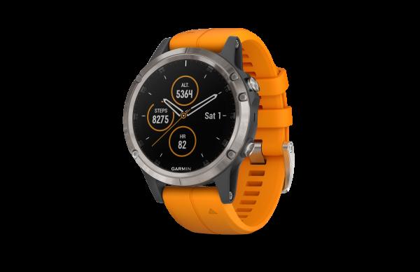 GARMIN Fenix 5 Plus Saphir Titan - GPS - Smartwatch - Grau/Titan