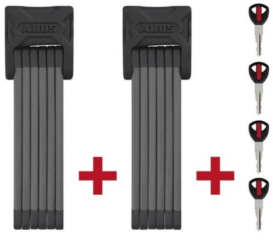 ABUS Bordo 6000 Twin Set - 5 mm - schwarz - Faltbügelschloss