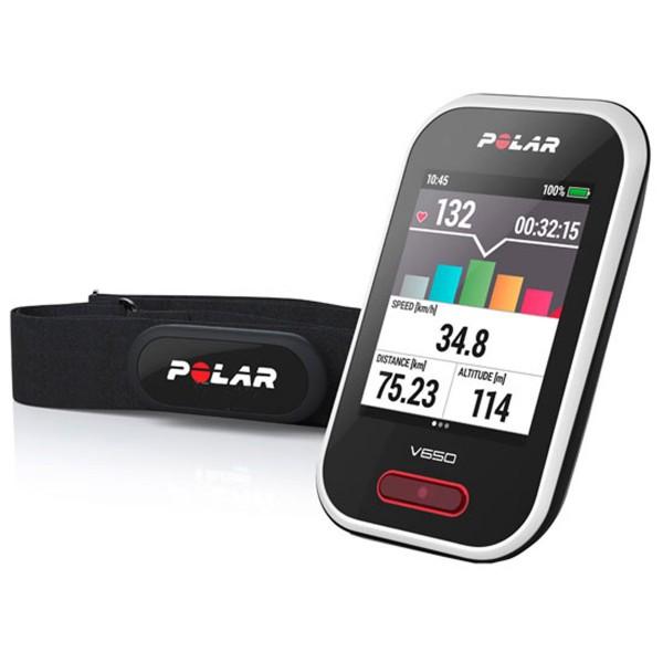 POLAR V650 N HR - GPS - Radcomputer mit Touchscreen - Fahrradcomputer