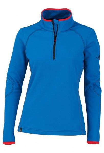 MAUL Daubenhorn Damen Fleece - blau - Langarmshirt
