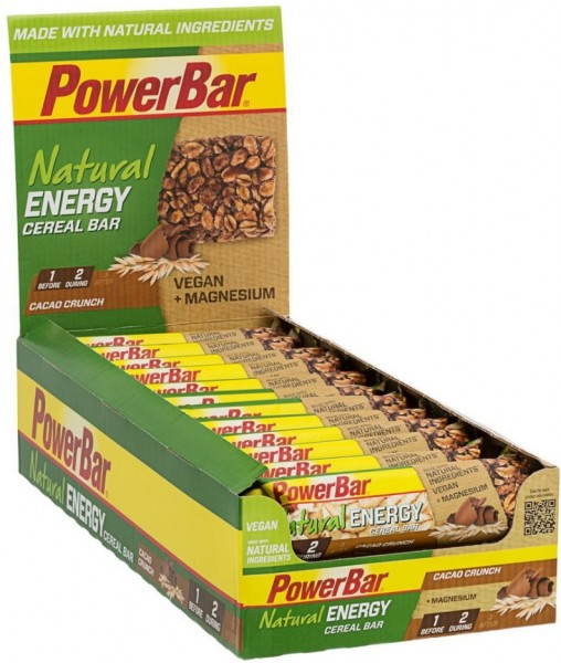 POWERBAR Nutural Energy- Riegel- cacao crunch- VEGAN- 24 Riegel 40g Box