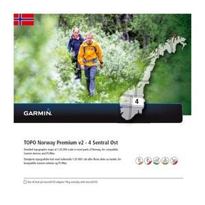 Garmin Topo Norwegen Premium 4 - Sentral Ost (microSD/SD) - Karte