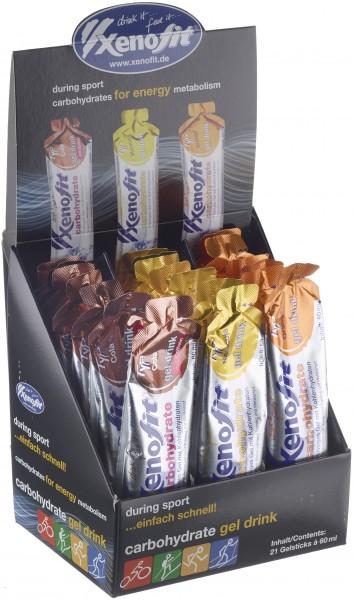 XENOFIT Carbohydrate Gel Drink Mischbox - 3fach sortiert - 21x60ml