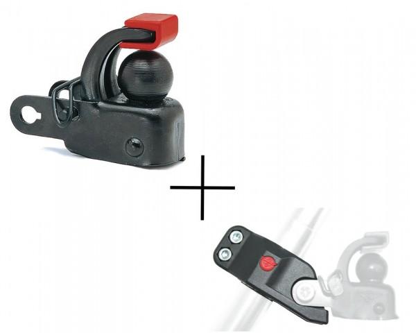 HEBIE Set Sattelstützadapter + Anhängekupplung F1 - schwarz