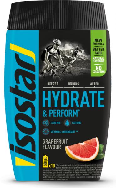 ISOSTAR Hydrate & Perform - Grapefruit - Pulver - 400g - Neue Rezeptur