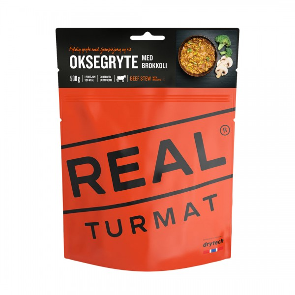 REAL TURMAT Beef Stew with Broccoli- Rindfleischeintopf mit Brokkoli- 10 Pack