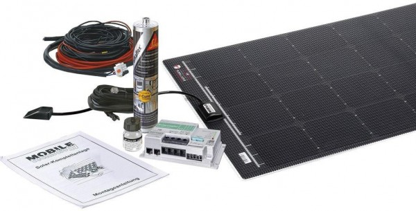 BÜTTNER ELEKTRONIK Flat Light Solar Komplettanlage MT 110 FL