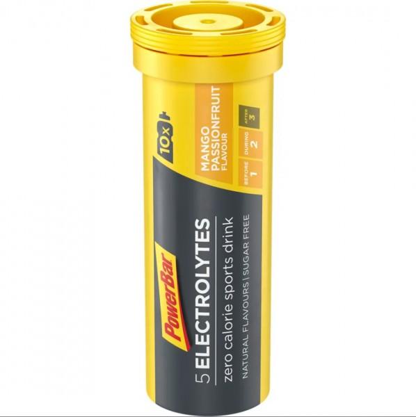 POWERBAR 5 Electrolytes Sports Drink - Mango-Passionfruit - 10x4,2g