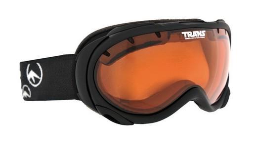 Trans Powder Goggle UNI in matt ruber black / Lense: orange
