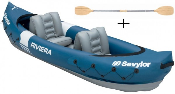 SEVYLOR Riviera - Kajak - Aufblasbares - 312x92cm + 1 Doppelpaddel