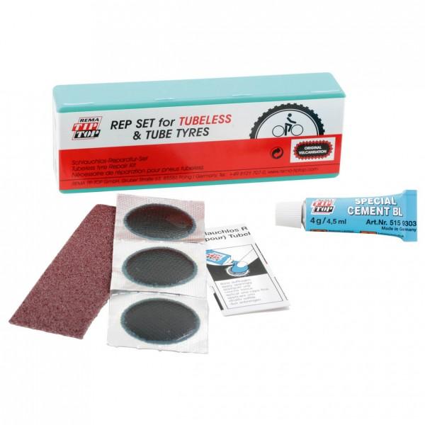 TIP TOP TT 13 Tubeless - Speziell für schlauchlose Reifen - Flickzeug Set