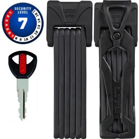 ABUS Bordo Lite 6050 - 5mm - schwarz - Faltbügelschloss