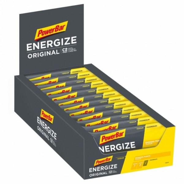 POWERBAR Energize Original - banana punch - 25 Riegel 55g Box