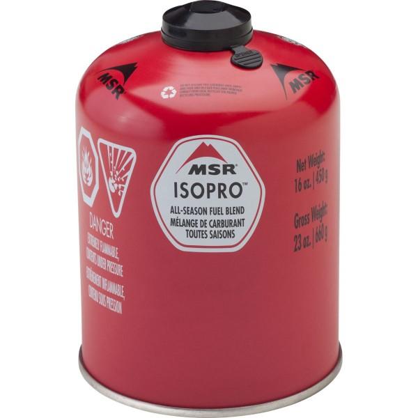 MSR IsoPro Gas Schraubgaskartusche - Brennstoffkartusche - 450g