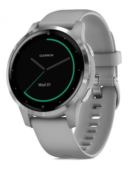 GARMIN vívoactive 4S - GPS Fitness Smartwatch - Hellgrau/Silber
