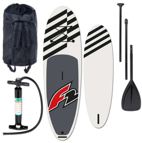 F2 Allround SUP- Stand Up Paddle Board SUP 10,5'' Schwarz Komplett Set