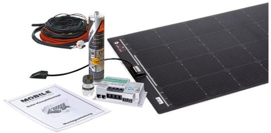BÜTTNER ELEKTRONIK Flat Light Solar Komplettanlage MT 140 FL